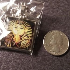Jewelry - {King Tut} Glass & Alloy Pendant Necklace